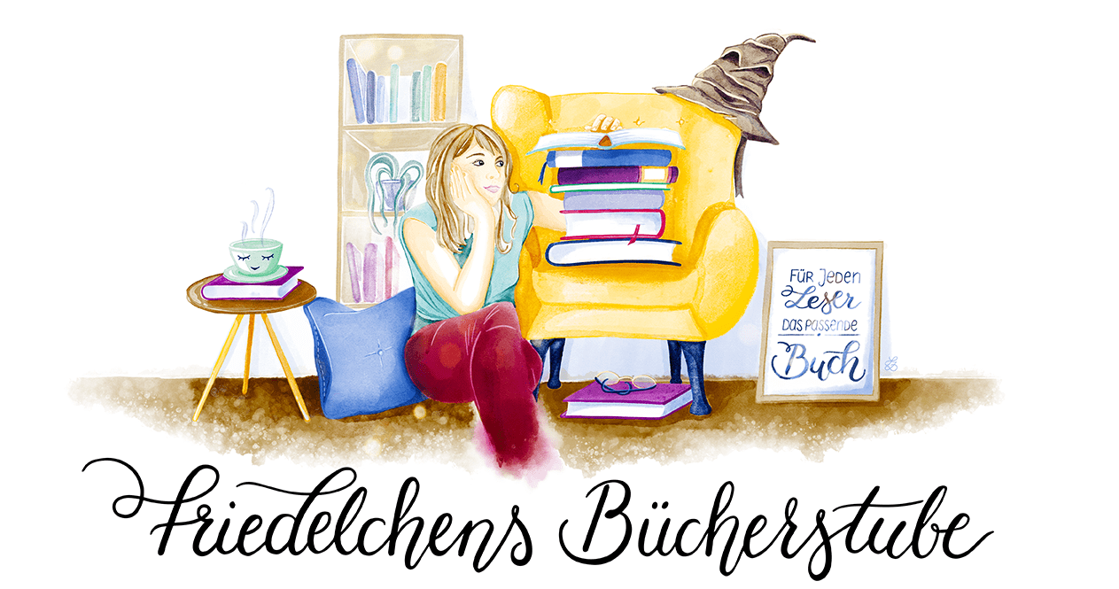 Friedelchens Bücherstube, Blogillustration, redaktionelle Illustration, Sandra Zabel, sandrazabel.de, digital illustration