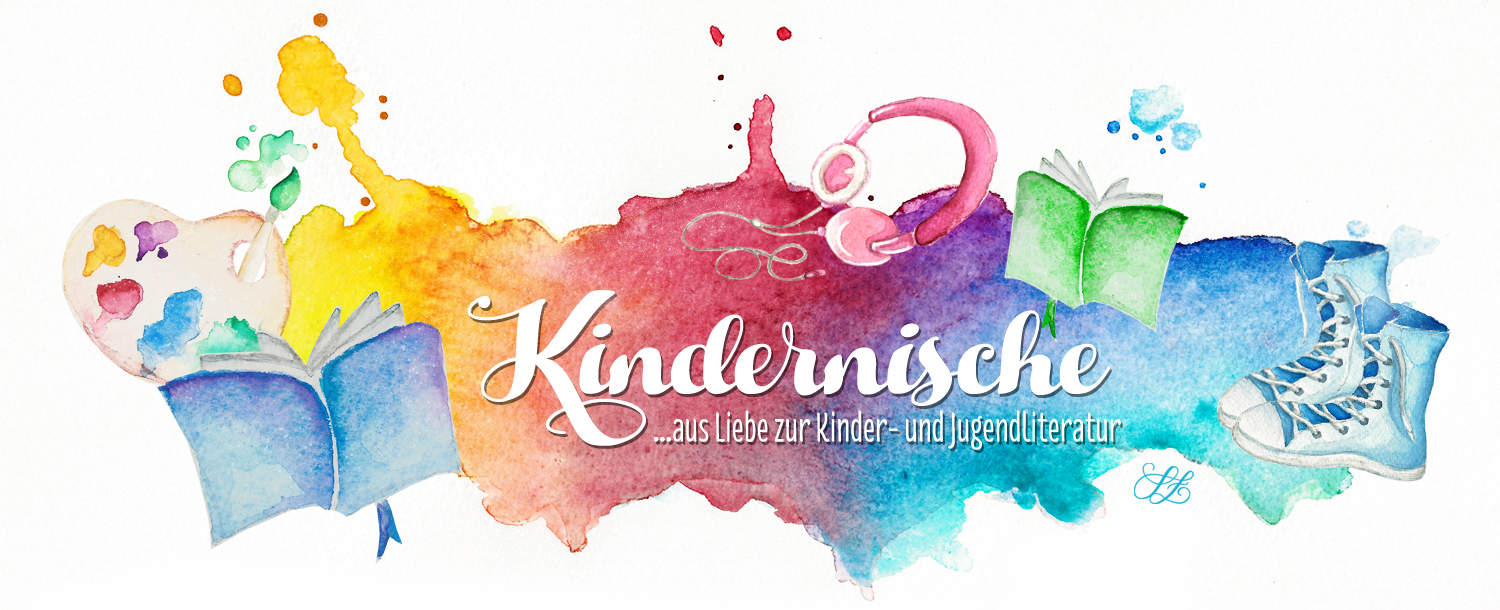 Kindernische, Kinderbuchliteratur, Bloglogo, Illustration, traditional media, Sandra Zabel, sandrazabel.de