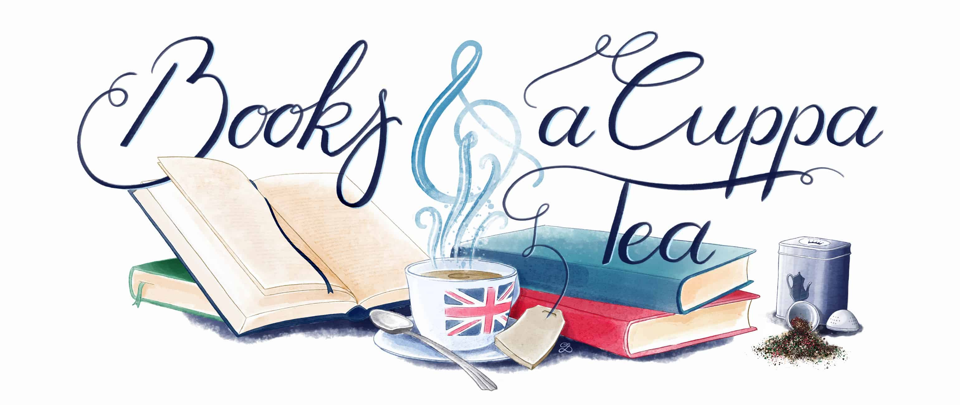 Books & a Cuppa Tea - Illustration Sandra Zabel, sandrazabel.de